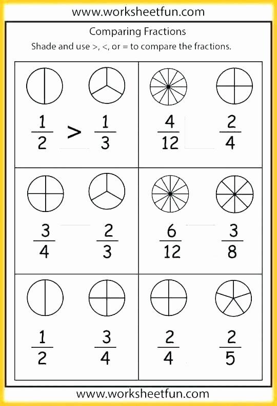 Equivalent Fractions Coloring Worksheet Grade Math Worksheets Equivalent Fractions Paring Free