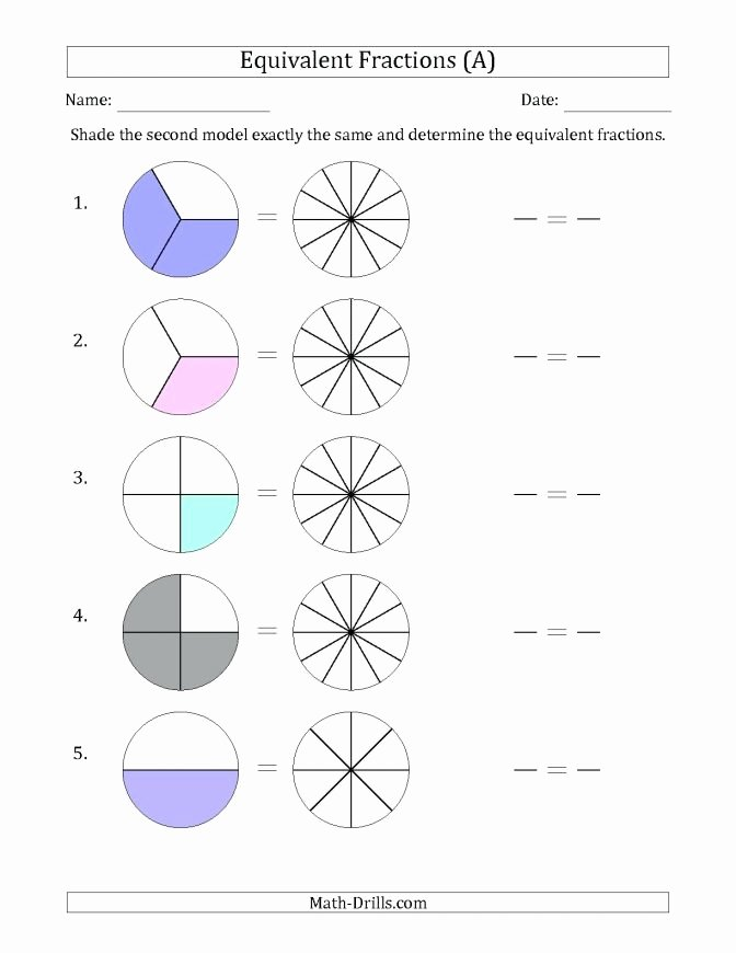 Equivalent Fractions Worksheets 5th Grade Equivalent Fractions Worksheet 3rd Grade Number Line W