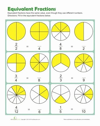 equivalent fractions worksheet 5th grade briefencounters worksheet of equivalent fractions worksheet pdf