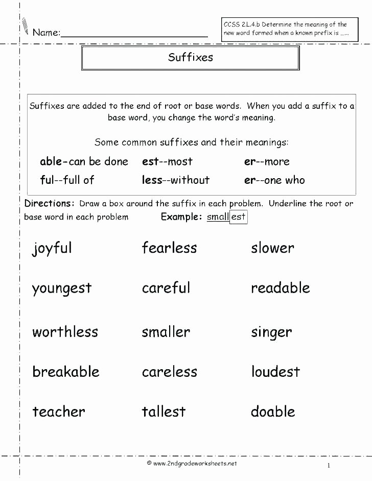 Er Est Worksheets 2nd Grade Ed Ing Worksheets