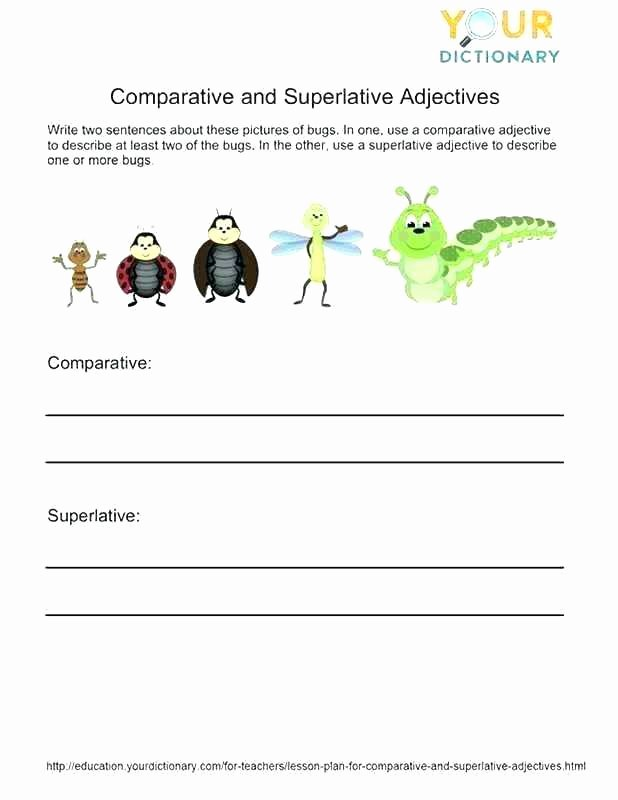 Er Est Worksheets 2nd Grade Phonics Parative Endings Er Est Worksheet for Grade