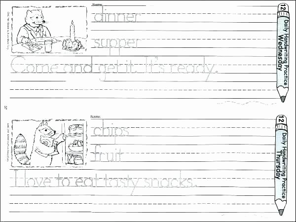Esl Writing Worksheets Pdf Esl Handwriting Worksheets