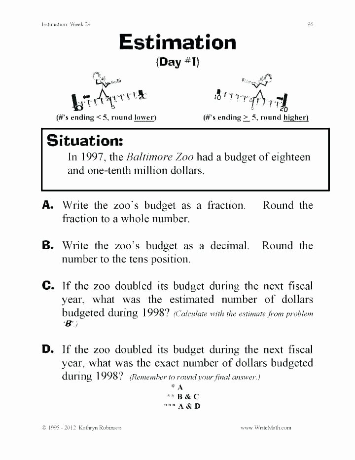 rounding numbers worksheets grade 3 grades 5 place value estimating sums math estimation games p