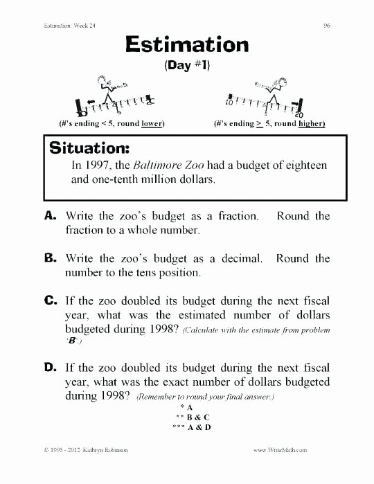 Estimating Differences Worksheets Estimation Worksheet – Anumaquinaria