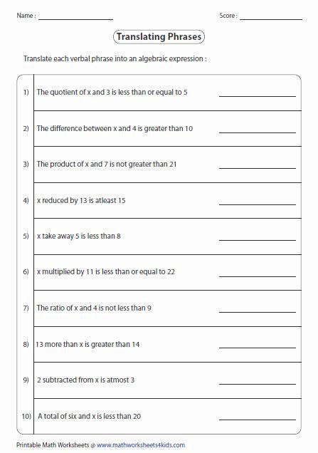 Estimating Differences Worksheets Math Word Problems with Variables Worksheets – Gsrp