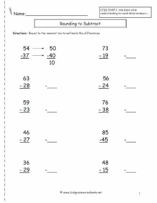 Estimating Differences Worksheets Rounding Decimals Answers – ispe Indonesia