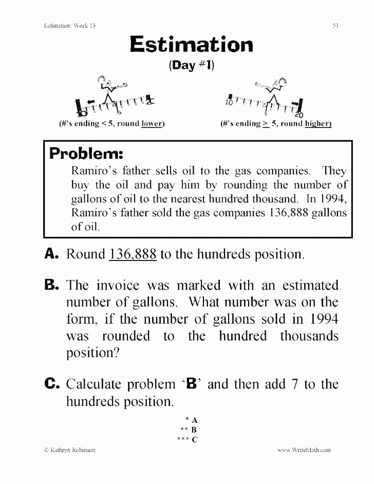 Estimating Differences Worksheets Rounding Estimation Worksheets Free Worksheet 6 Printable