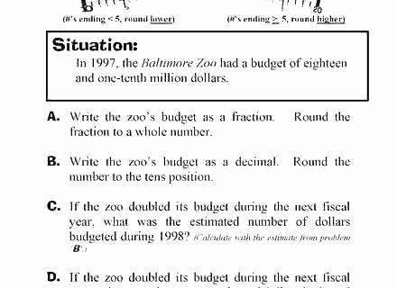 Estimating Numbers Worksheets Estimation Worksheets 4th Grade
