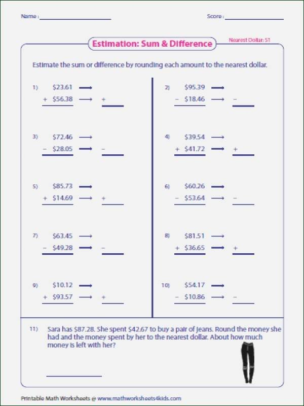 Estimating Numbers Worksheets Estimation Worksheets