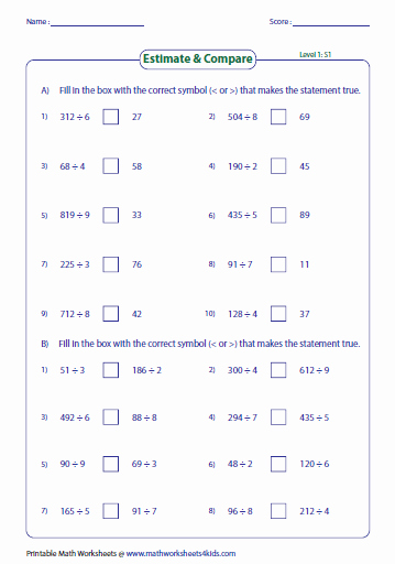 Estimating Products Worksheets 4th Grade Multiplication Using Estimation Worksheets