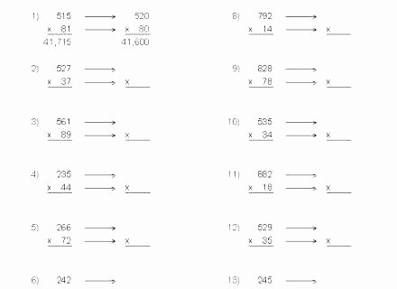 Estimating Products Worksheets 4th Grade Rounding Numbers Worksheets New Best Math 4th Grade