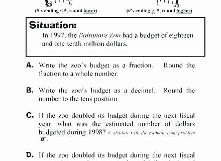 Estimating Word Problems 3rd Grade Grade Rounding Word Problems Worksheets Estimation Addition