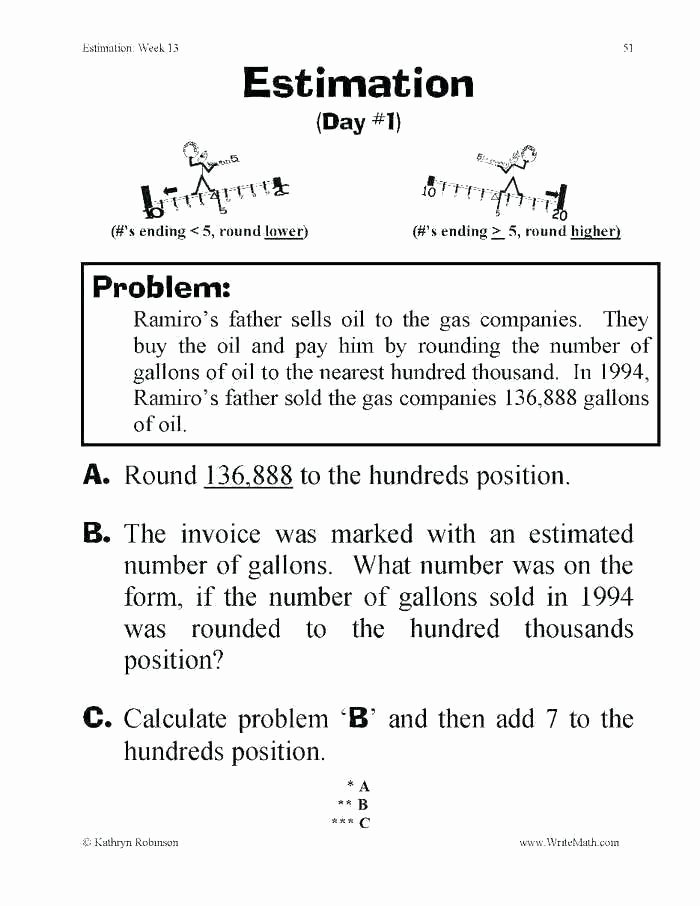 Estimating Worksheets 3rd Grade Math Estimation Worksheets – Primalvape