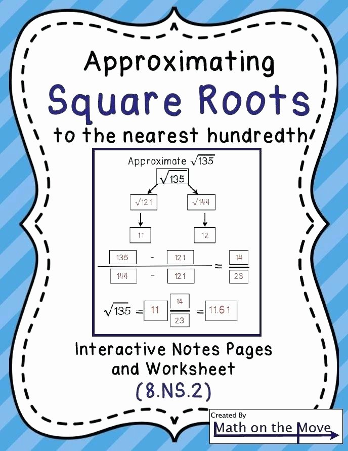 Estimation Maths Worksheets Square Root Worksheets Estimating Square Roots Interactive