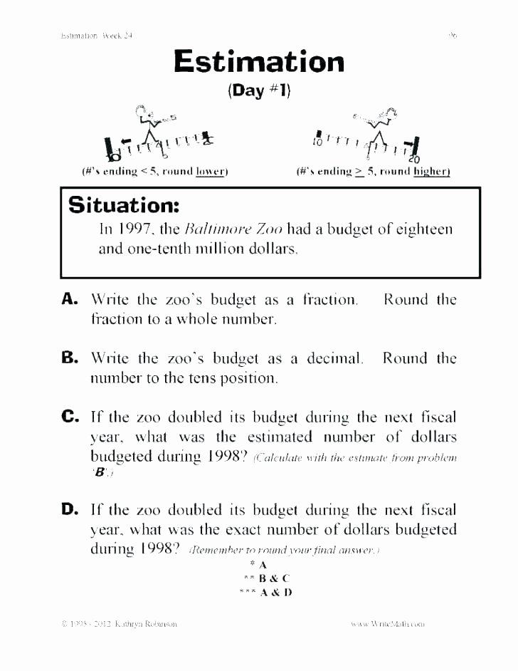 Estimation Worksheet 3rd Grade Estimating Sums Worksheets 3rd Grade – Onlineoutlet