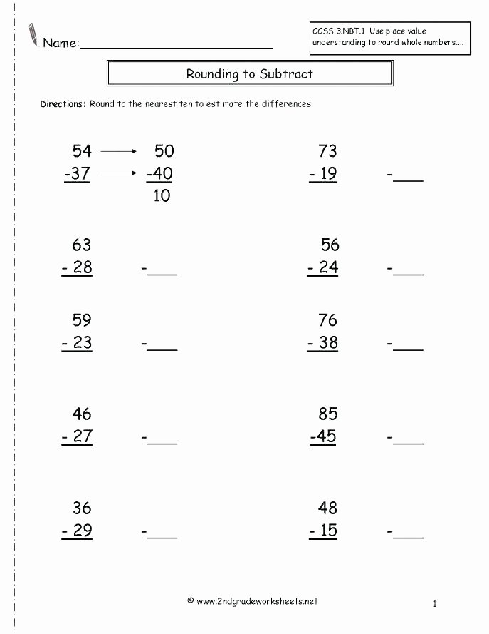 Estimation Worksheet 3rd Grade Rounding Worksheets Download them and Try to solve Numbers