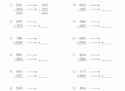 Estimation Worksheets 3rd Grade Estimating Sums Worksheets 3rd Grade – Onlineoutlet
