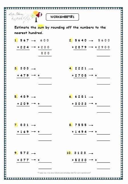 Estimation Worksheets 3rd Grade Estimation Worksheet 1 Estimation Worksheets Estimating