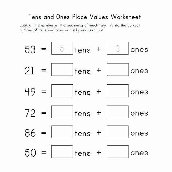 Expanded form Worksheets 1st Grade Place Value Worksheets for Kids Kindergarten Collection