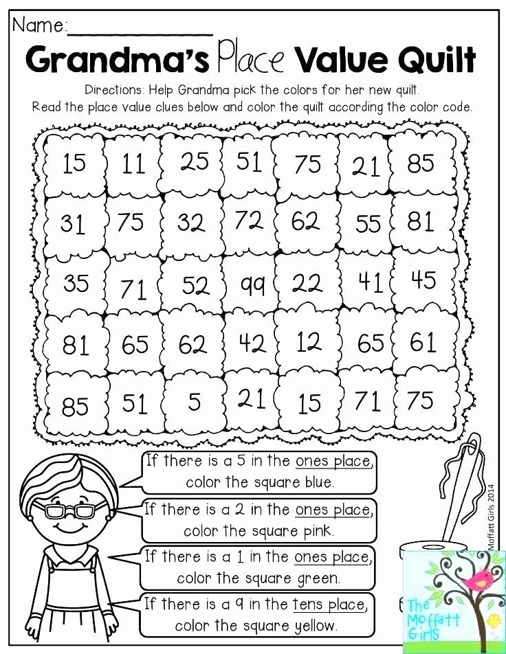 Expanded form Worksheets 1st Grade Tens and Ones Worksheets Grade 1