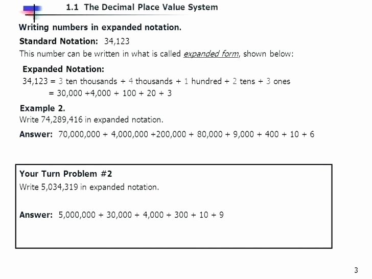 Expanded form Worksheets 5th Grade Expanded form Worksheets 5th Grade Standard and Place Value