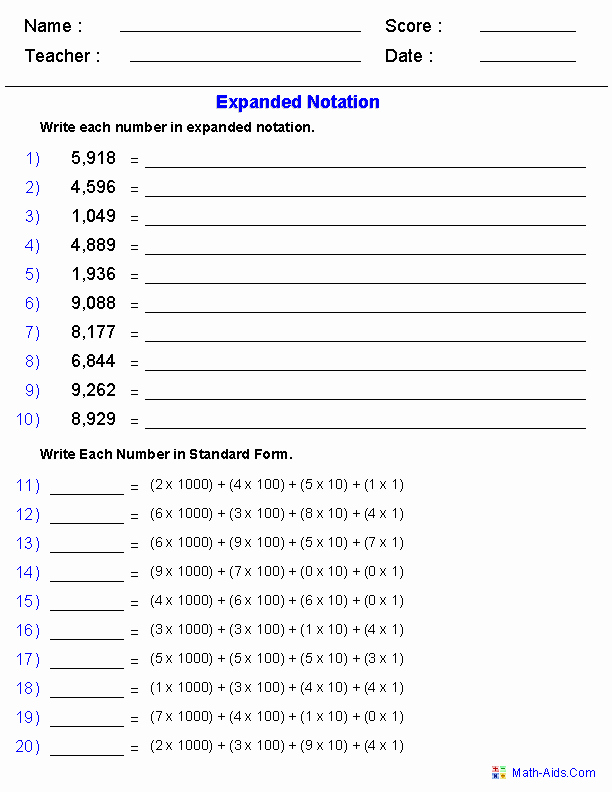 Expanded form Worksheets 5th Grade Kris Worster Kmworster0667 On Pinterest