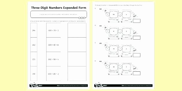 Expanded form Worksheets Second Grade Expanded form Worksheets Grade Place Value 2 Coloring Wo