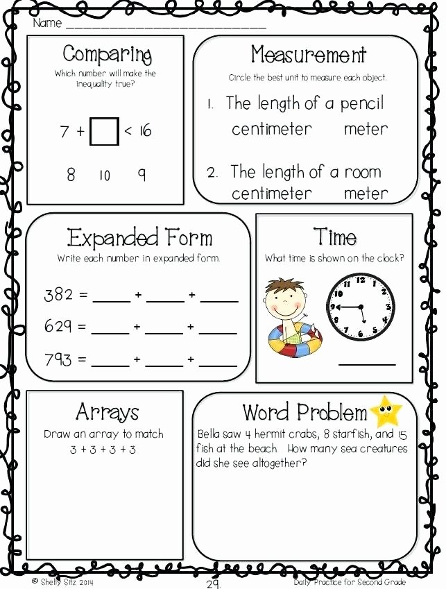 Expanded form Worksheets Second Grade Free Mon Core Math Worksheets Worksheet for Grade