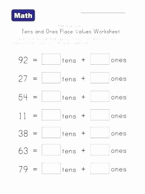 Expanded form Worksheets Second Grade Place Value Worksheets Grade 2 Expanded form Tens Es