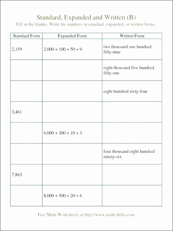 Expanded Notation Worksheets 3rd Grade What is Expanded Notation Definition Examples Video Lesson