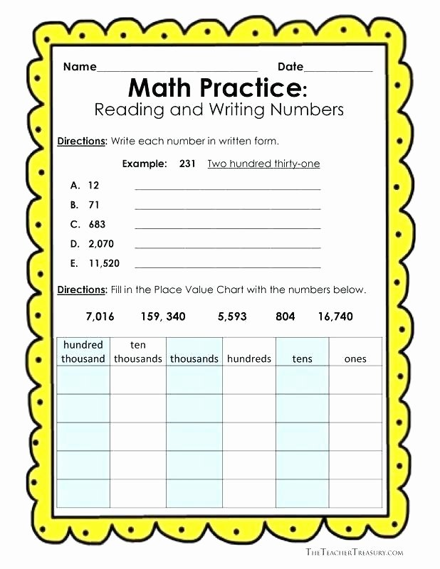 Expanded Notation Worksheets 3rd Grade Word form Worksheets 4th Grade Expanded form Worksheets