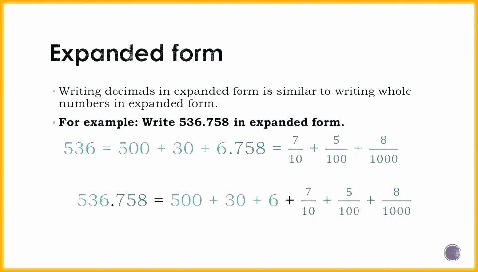 Expanded Notation Worksheets Expanded form Worksheets 2nd Grade