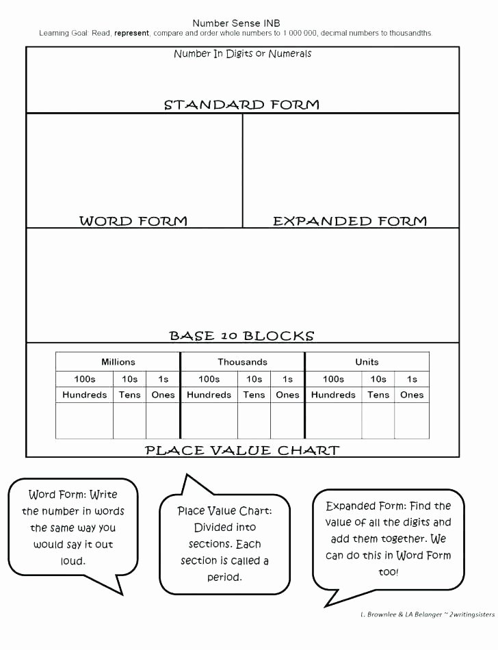 Expanded Notation Worksheets Standard and Expanded form Worksheets