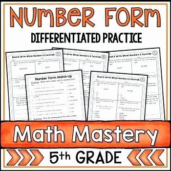 Expanded Notation Worksheets Standard and Expanded form Worksheets Teaching Resources