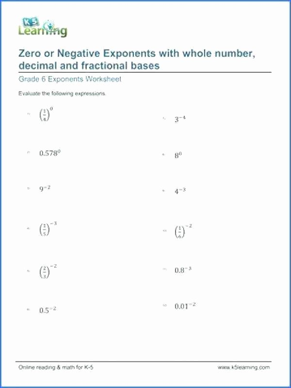 Exponents Worksheets 6th Grade Pdf Exponents Worksheets Grade 8