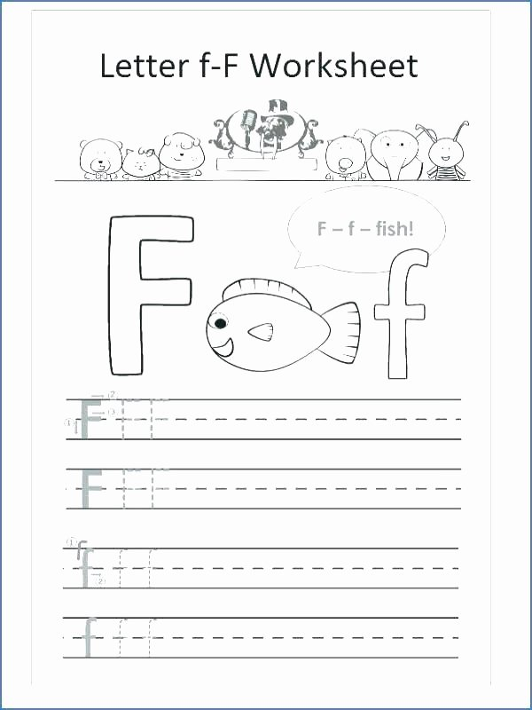 F Worksheets for Preschool Letter F Worksheets for Kindergarten