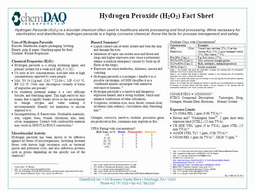 Fact V Opinion Worksheet Hydrogen Peroxide Fact Sheet