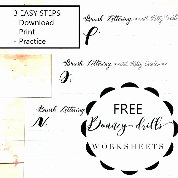 Fake Calligraphy Practice Sheets Calligraphy Worksheets Pdf Free