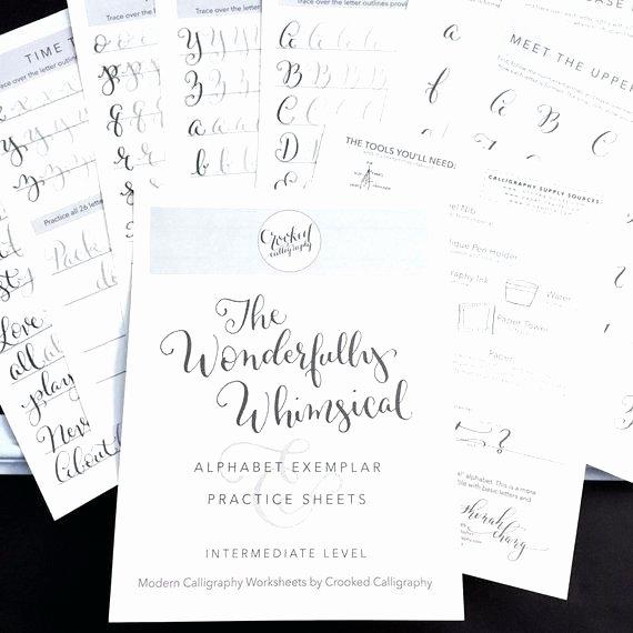 Fake Calligraphy Practice Sheets Free Fake Calligraphy Practice Worksheets How to Create