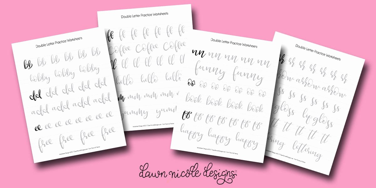 Fake Calligraphy Practice Sheets Free Letter I Hand Lettering Alphabet Practice Worksheet All