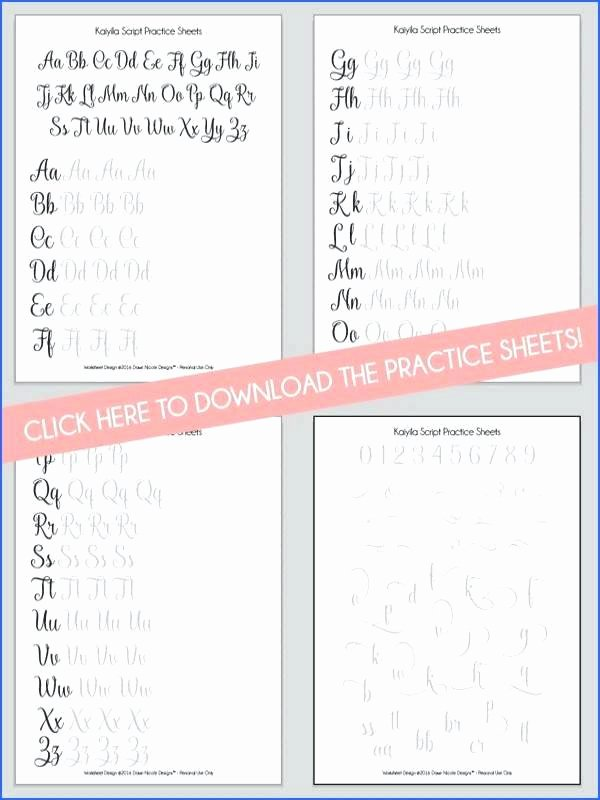 Fake Calligraphy Practice Sheets Mon Worksheets Free Calligraphy Printable Flourish