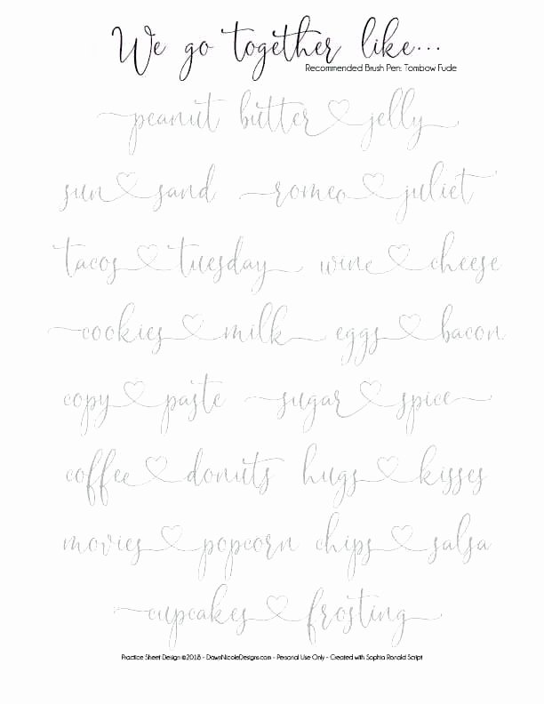 Fake Calligraphy Practice Sheets Practice Calligraphy Worksheets