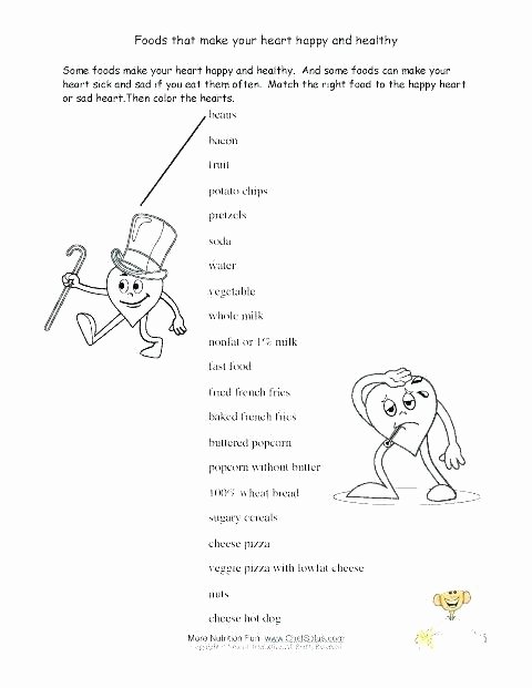 Fall Worksheets for Kindergarten Healthy Food Worksheets for Kids Eating Fun Activities