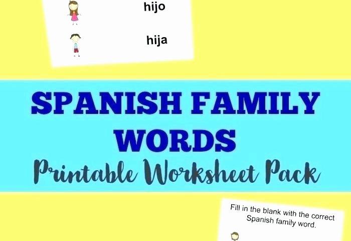 Family Tree Worksheets for Kids Free Printable Spanish Worksheets for Kindergarten