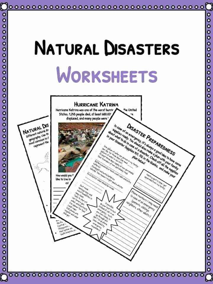 Family Tree Worksheets for Kids Natural Disaster Worksheets Facts & Historical Information