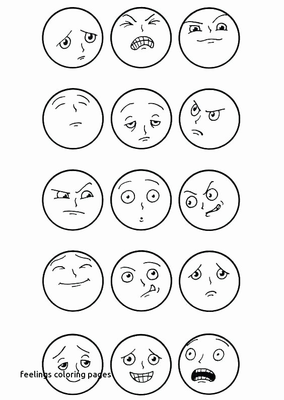Feelings and Emotions Worksheets Printable Emotional Coloring Sheets – Queenandfatchef