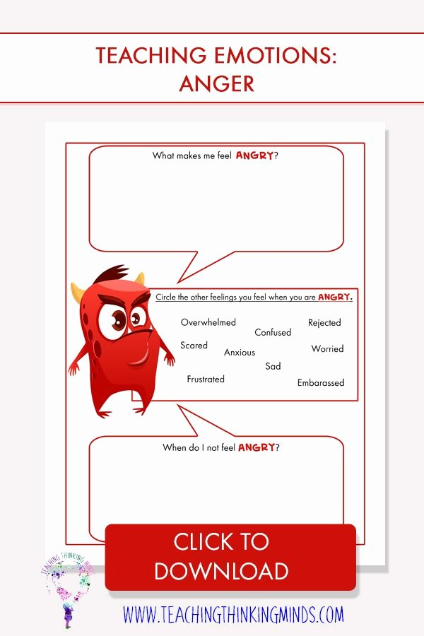 Feelings and Emotions Worksheets Printable My Journal Of Monstrous Emotions