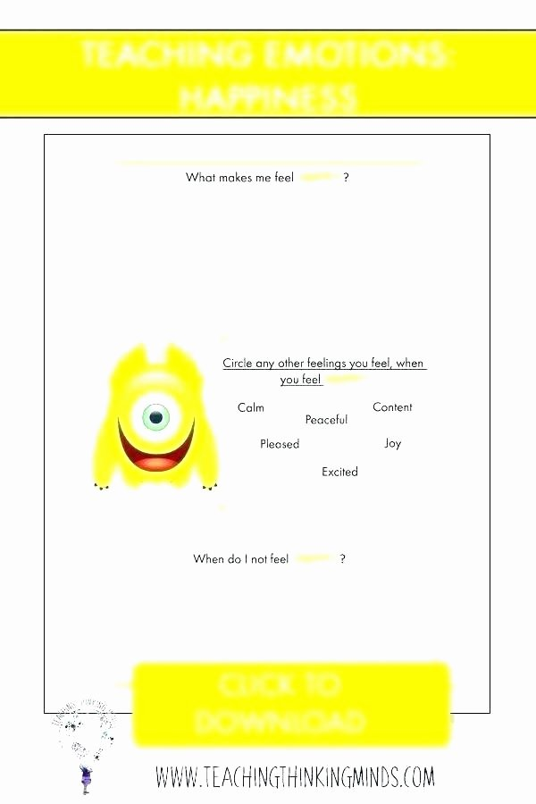 Feelings Worksheets for Kids Emotional Intelligence Worksheets – Javisebalier