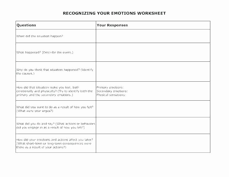 Feelings Worksheets for Kids Emotions Worksheets for Kids Activities Preschool Free