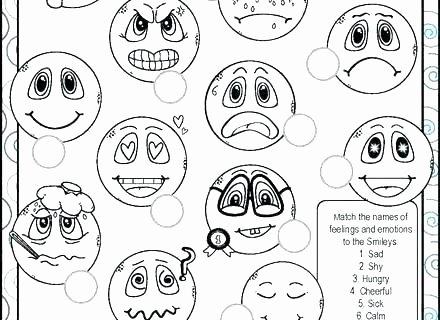 Feelings Worksheets for Kindergarten Emotional Intelligence Worksheets Curriculum Guide Emotions